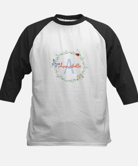 Cute Butterfly Floral Monogram Baseball Jersey