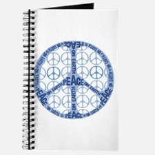Light Blue Peace On Earth Custom Journal