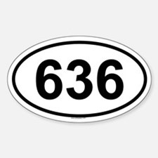 636 Oval Decal
