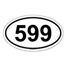 599 Oval Decal