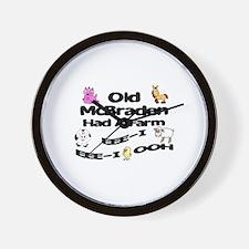 Old McBraden Had a Farm Wall Clock
