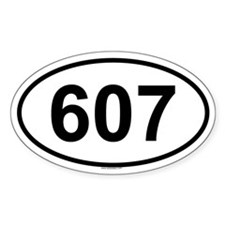607 Oval Decal