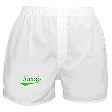 Sarai Vintage (Green) Boxer Shorts