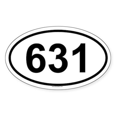 631 Oval Sticker