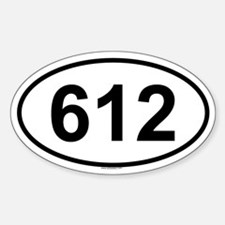 612 Oval Decal