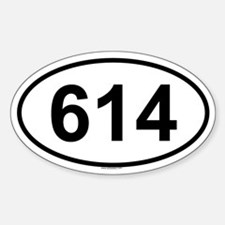 614 Oval Bumper Stickers