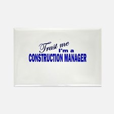 Trust Me I'm a Construction M Rectangle Magnet