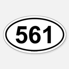 561 Oval Bumper Stickers