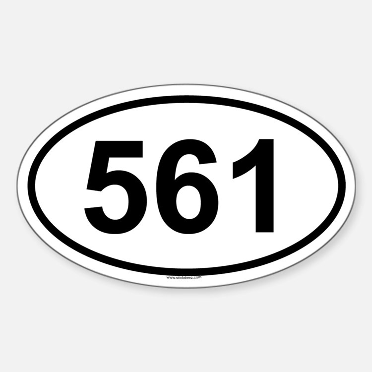 561 Oval Decal