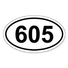 605 Oval Decal