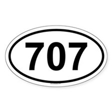 707 Oval Decal