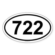 722 Oval Decal
