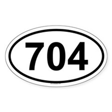 704 Oval Decal
