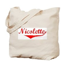 Nicolette Vintage (Red) Tote Bag