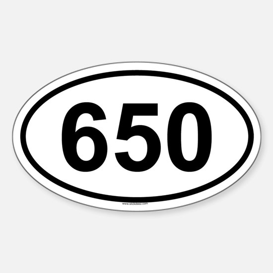 650 Oval Bumper Stickers