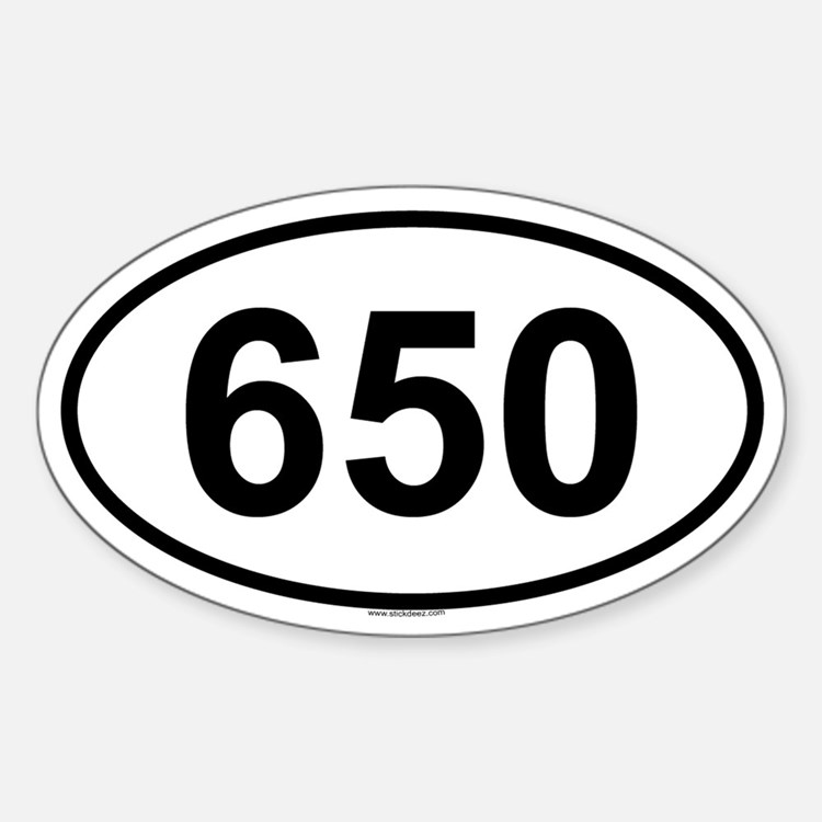 650 Oval Decal