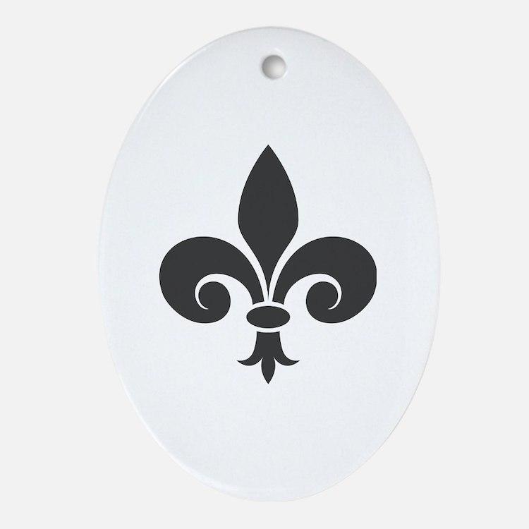 Cute Fleur Oval Ornament
