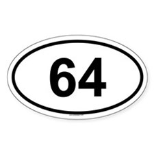 64 Oval Decal