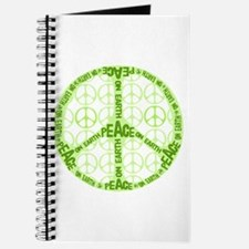 Chartreuse Peace on Earth Custom Journal