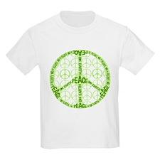 Chartreuse Peace on Earth Custom T-Shirt