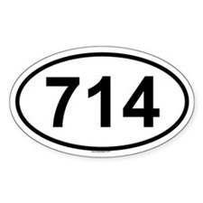 714 Oval Decal