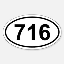 716 Oval Decal
