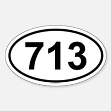 713 Oval Decal