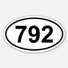 792 Oval Decal