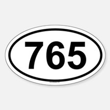 765 Oval Decal