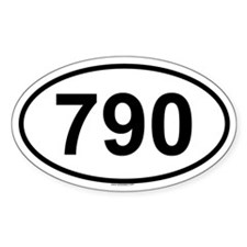 790 Oval Decal