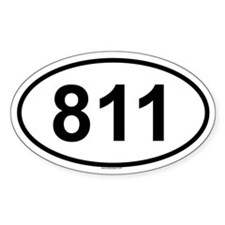 811 Oval Decal