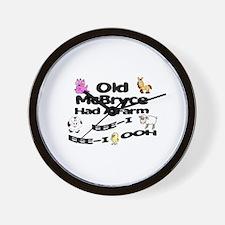 Old McBryce Had a Farm Wall Clock