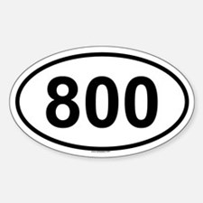 800 Oval Decal
