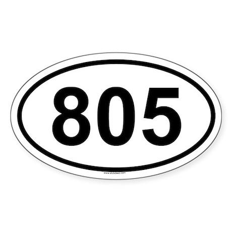 805 Oval Sticker