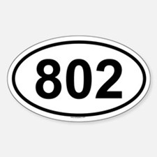 802 Oval Decal