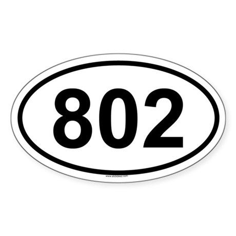 802 Oval Sticker