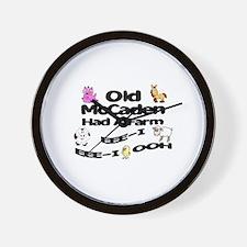 Old McCaden Had a Farm Wall Clock