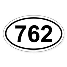 762 Oval Decal