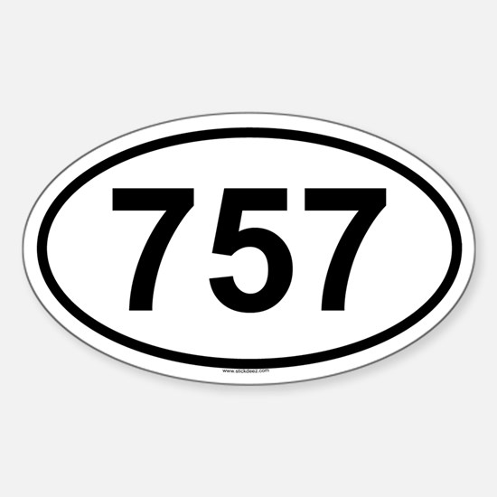 757 Oval Decal