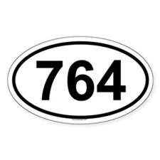 764 Oval Decal