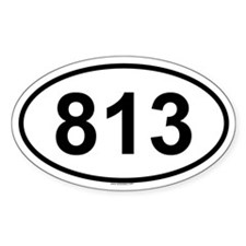 813 Oval Decal