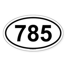 785 Oval Decal
