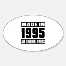 Made In 1995 Sticker (Oval)