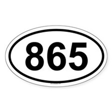 865 Oval Decal