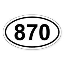 870 Oval Decal