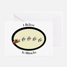 "Penguins ""I Believe"" Greeting Card"