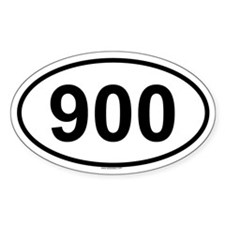 900 Oval Decal