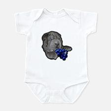 Blue Shar Pei Infant Bodysuit