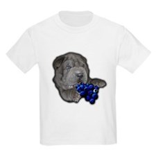 Blue Shar Pei Kids T-Shirt