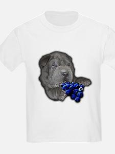 Blue Shar Pei Kids T-Shirt